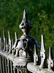 old decorative iron fence