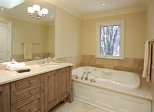 Ideas bathroom renovation and remodeling photos pics for Bathroom decor earth tones
