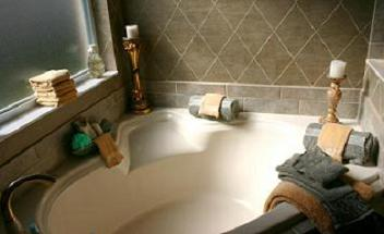 calming spa bathroom