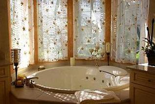 luxury bathroom round tub