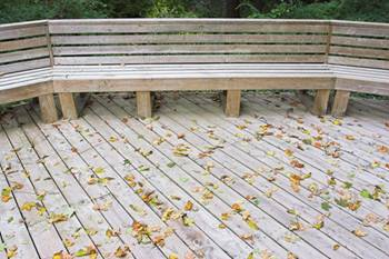 decks and patios wooden bench image 6