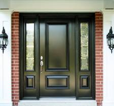 Black exterior house door image 3