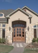 Custom Wood exterior house door image 1
