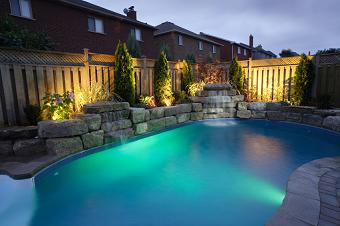 landscape lighting pool Pool Landscape Design Ideas
